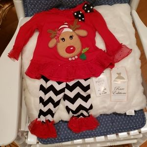 Reindeer/ Christmas holiday Outfit Rare Editions.